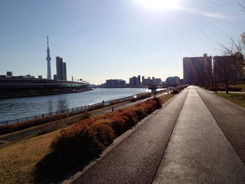 隅田川のほとり